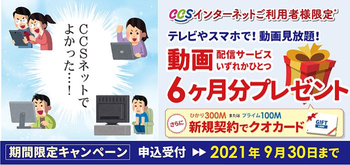 動画6カ月分プレゼントキャンペーン